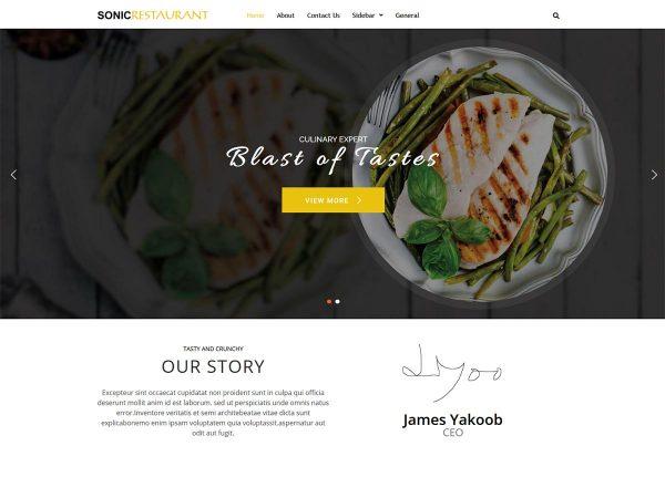 restaurant WordPress theme